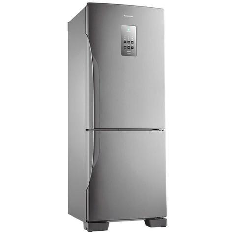 Imagem de GELADEIRA Refrigerador Panasonic NR-BB53PV3X Frost Free Inverter Aço Escovado  425L - 127V