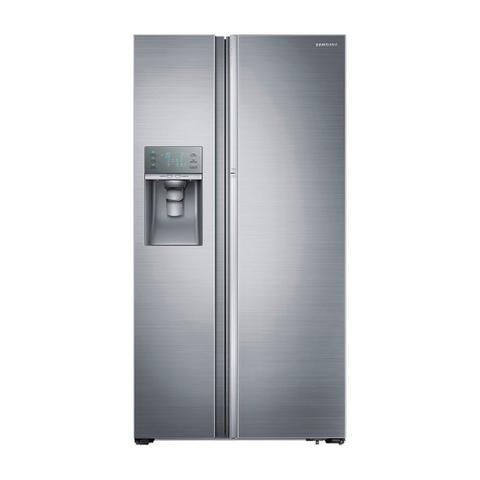 Imagem de Geladeira Refrigerador Samsung Inox Side by Side 765L Dispenser de Água Food Show Case RH77H90507H