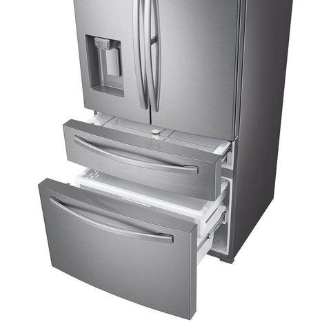 Imagem de Geladeira Samsung RF22R Inverter Frost Free Smart 3 Portas com Dispenser de Água 501L Inox