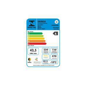 Imagem de Geladeira Samsung RF49A Inverter Frost Free 3 Portas com Dispenser de Água 470L Inox Look