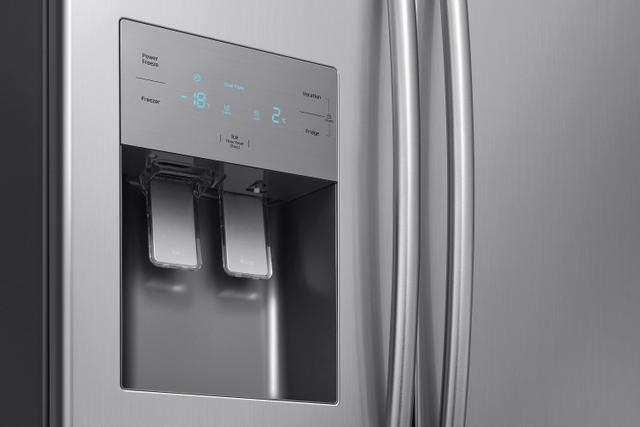 Imagem de Geladeira Samsung RS50N Frost Free Side by Side com Dispenser de Água e Gelo 501L Inox Look