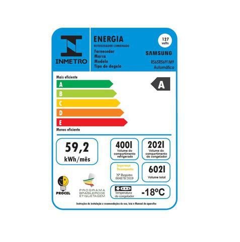 Imagem de Geladeira Samsung RS65R Frost Free Side by Side 3portas com Dispenser de Água e Gelo 601L Inox