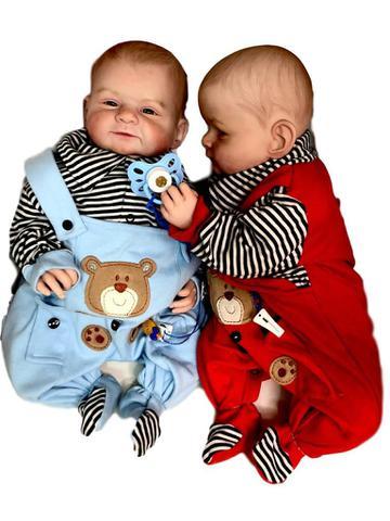 Imagem de Gemeos Reborn Mary  Mark Hair Painting Baby Dolls 2