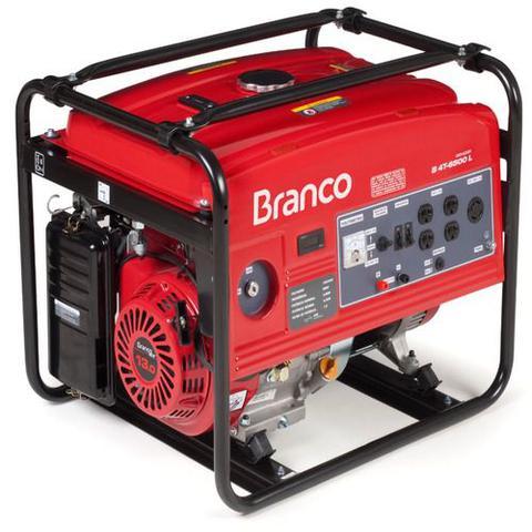 Gerador de Energia Gasolina 5500w Branco Monofásico Bivolt - B4t6500