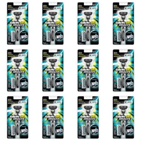 Imagem de Gillette Mach3 Aparelho De Barbear + 2 Cargas (Kit C/12)