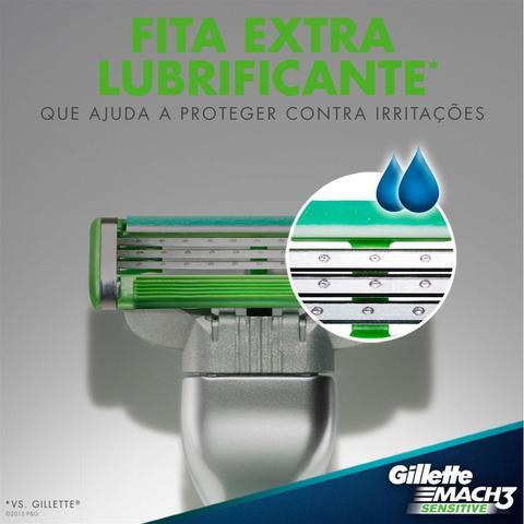 Imagem de Gillette Mach3 Sensitive 16 Cartuchos Recarga