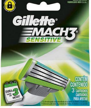 Imagem de Gillette mach3 sensitive carga 3 unidades