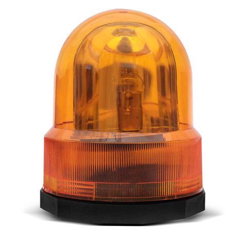 Imagem de Giroled Luz de Emergência Sinalizador Universal 12V Âmbar Giroflex Fixação por Imã Carro