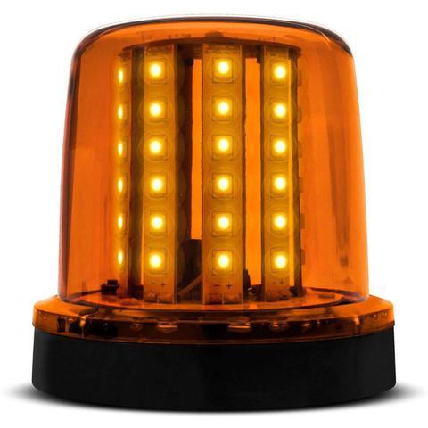 Imagem de Giroled Luz Emergência Sinalizador 54 LEDs 12 24V Âmbar Giroflex Fixação Parafuso