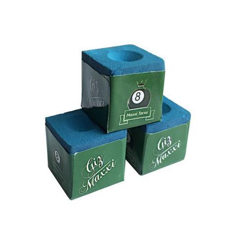 Imagem de Giz Maxxi - Profissional Para Sinuca Azul - 03 Unidades