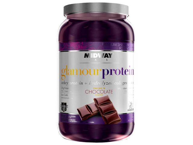 Imagem de Glamour Whey Protein Usa Chocolate 900g - Chocolate - Midway