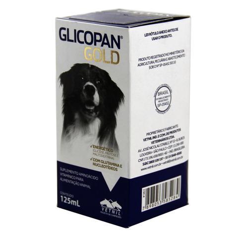 Imagem de Glicopan Gold 125ml Vetnil Suplemento p/ Animais