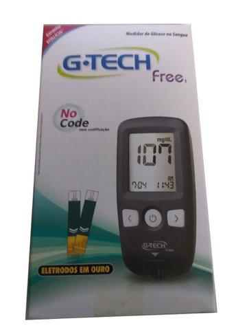 Imagem de Glicosímetro G-Tech Free - Sem Codificação Eletrodos em Ouro
