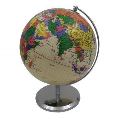 Imagem de Globo decorativo de plastico e metal - bege