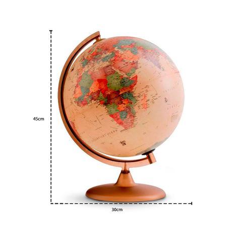 Imagem de Globo Terrestre Histórico Discovery Iluminado 30cm Tecnodidattica