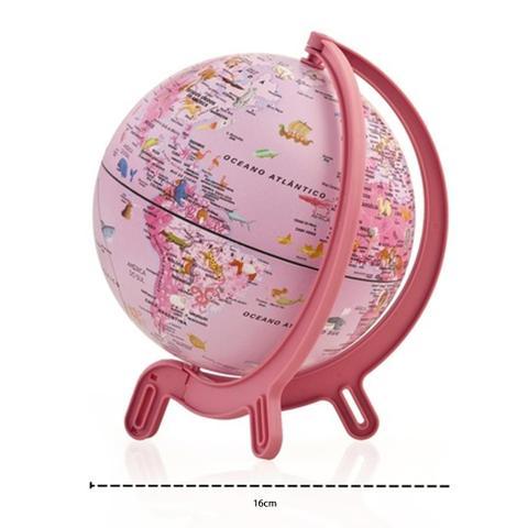 Imagem de Globo Terrestre Mini Giacomino Tecnodidattica Pink 16cm