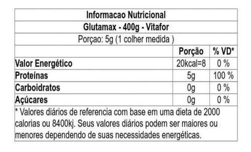 Imagem de Glutamax Glutamina Em Pó Sem Sabor 400g Vitafor