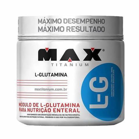 Imagem de Glutamina L-G - 150g + Coqueteleira 600ml Preta - Max Titanium