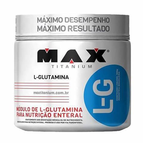 Imagem de Glutamina L-G - 300g + Coqueteleira 600ml Preta - Max Titanium