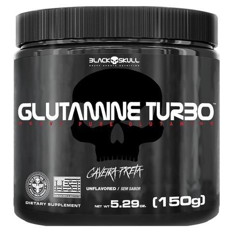 Imagem de Glutamine turbo caveira preta - glutamina - 150g