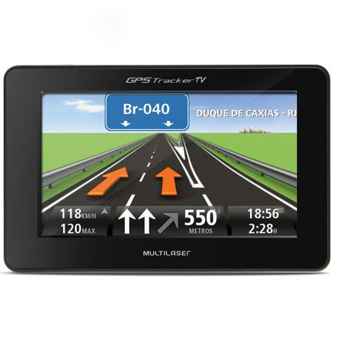 Imagem de GPS Automotivo Multilaser Tracker GP034 4,3 Pol TV Digital Alerta Radar Touchscreen Leitor E-Book