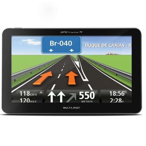 Imagem de GPS Automotivo Multilaser Tracker GP035 4,3 Pol TV Digital Alerta Radar Touchscreen com Camera Ré