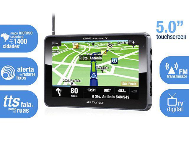 """Imagem de GPS Multilaser Tracker GP014 Tela 5"""""""
