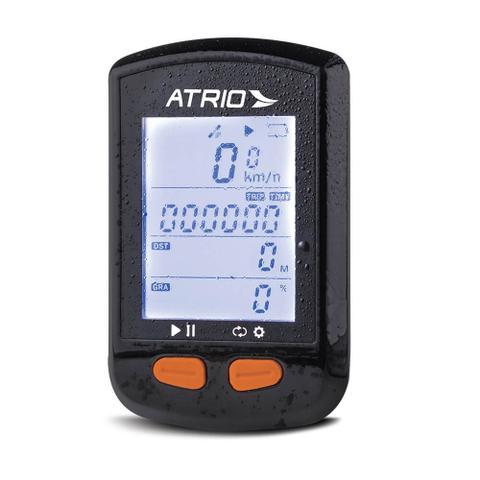 Imagem de GPS Steel Atrio para Ciclismo Resistente à Água com Bateria Recarregável Sensor de Cadência e Compatível com Cinta Cardíaca Preto Atrio - BI132