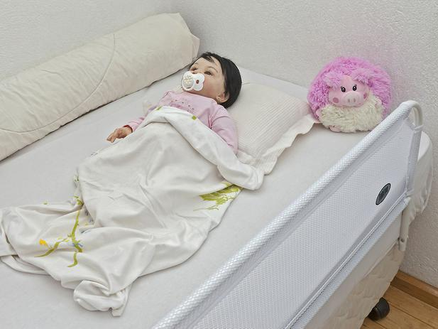 Imagem de Grade Branca Para Cama Infantil Super Luxo Tubline