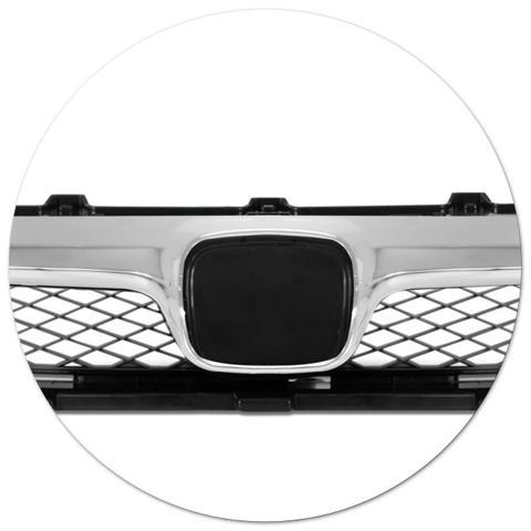 Imagem de Grade Dianteira New Civic 09 10 11 + Friso Cromado Grade Frontal + Par de Aros Apliques Cromados