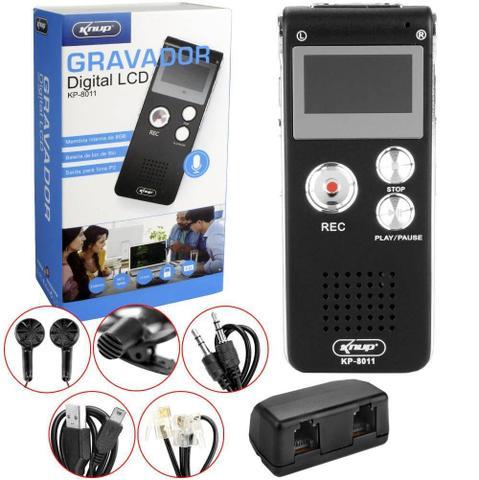 Imagem de Gravador De Voz Digital 8gb Escuta Telefonica Mp3 Kp-801