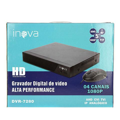 Imagem de Gravador Digital De Vídeo Para Câmera De Segurança 1080p HD 4 Canais DVR-7280 - Inova
