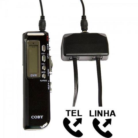 Imagem de Gravador Digital de Voz, Telefônico e MP3 Player CVR20 Preto