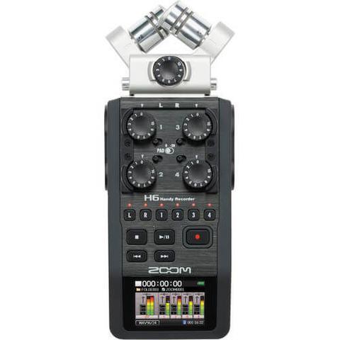 Imagem de Gravador Digital Zoom H6 Portátil 4 Entradas / 4 Trilhas com Sistema de Microfone Intercambiáveis