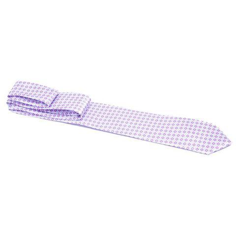 Imagem de Gravata lilás com retângulos lilás claro e escuro - Tradicional