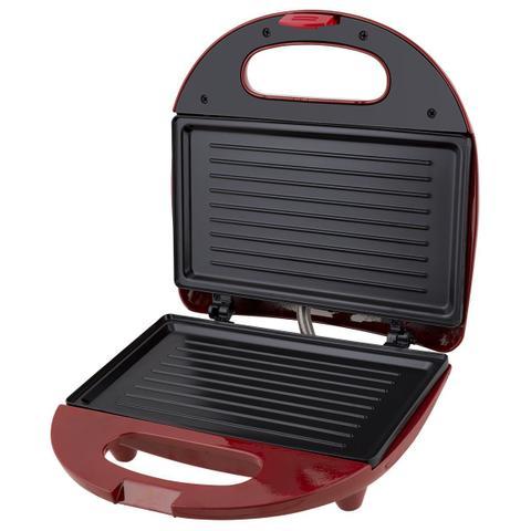 Imagem de Grill e Sanduicheira Britânia Crome Inox Vermelha 750W