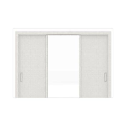 Imagem de Guarda Roupa 03 Portas de Correr com Espelho Residence Branco - Demóbile