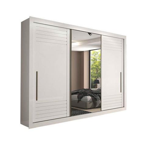 Imagem de Guarda Roupa 3 Portas Casal com Espelho Vitória Panan
