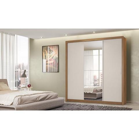 Imagem de Guarda-Roupa 3 Portas Demóbile Residence II, Amêndoa e Off White