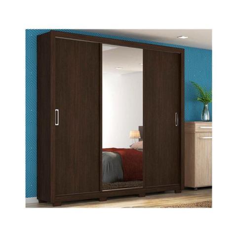 Imagem de Guarda Roupa 3 portas Residence com Pe Quadrado Ebano Touch