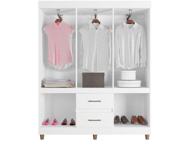 Imagem de Guarda-roupa Casal 10 Portas 2 Gavetas Araplac