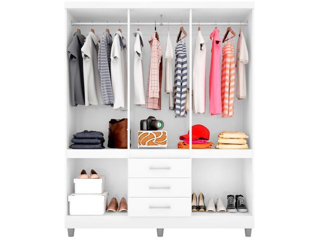 Imagem de Guarda-roupa Casal 10 Portas 3 Gavetas