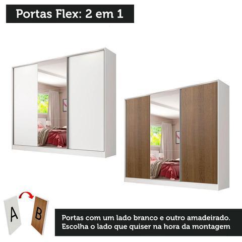 Imagem de Guarda Roupa Casal 100% MDF com Espelho Madesa Royale 3 Portas de Correr