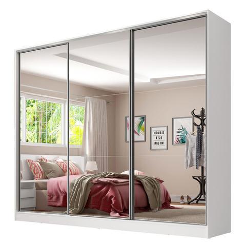 Imagem de Guarda Roupa Casal 100% MDF com Espelho Royale 3 Portas de Correr 1063093E Madesa