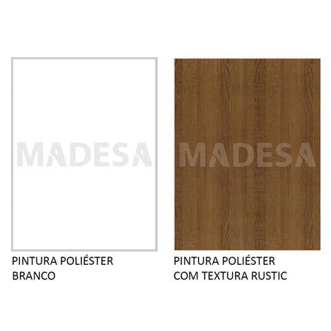 Imagem de Guarda Roupa Casal 100% MDF Madesa Royale 3 Portas de Correr - Branco/Rustic/Branco