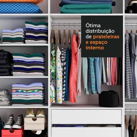Imagem de Guarda Roupa Casal 100% MDF Madesa Royale 3 Portas de Correr de Espelho - Preto