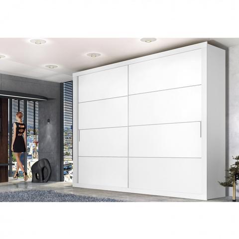 Imagem de Guarda Roupa Casal 2 Portas de Correr Essencial Espresso Móveis Branco Artico