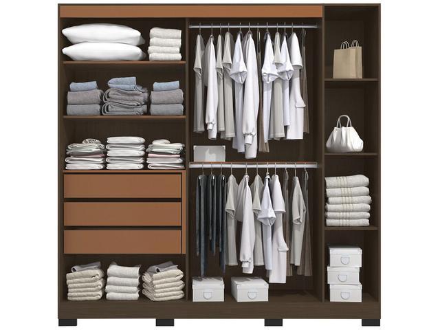 Imagem de Guarda-roupa Casal 3 Portas 3 Gavetas Kappesberg