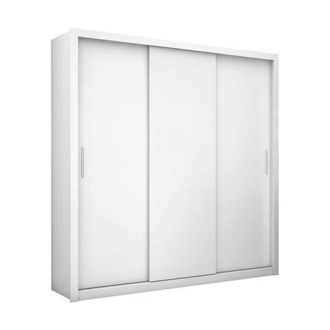 Imagem de Guarda Roupa Casal 3 Portas Clarice Siena Móveis Branco