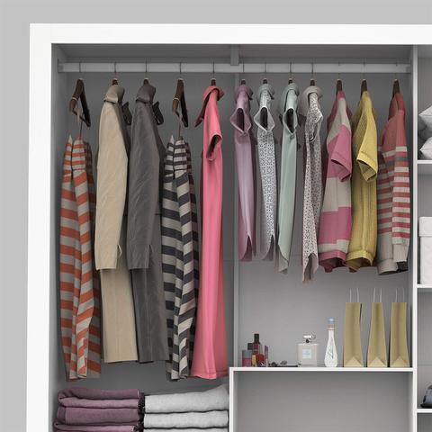 Imagem de Guarda Roupa Casal 3 Portas com Espelho Porto Premium Siena Móveis Branco